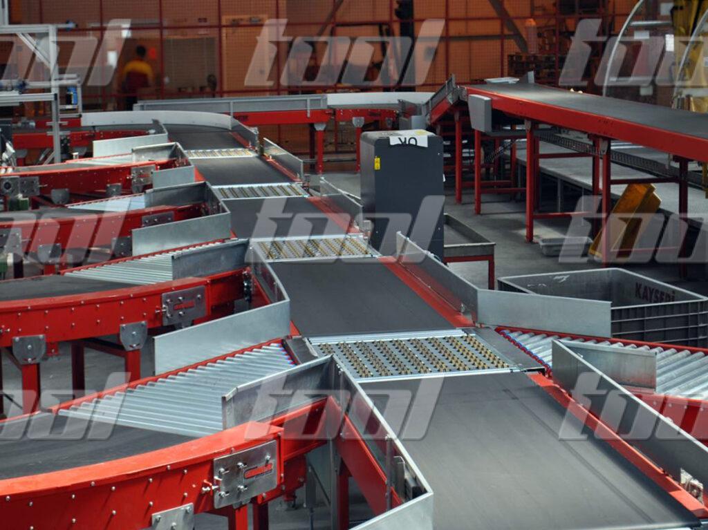 Установка для сортировки посылок на базе ленточного конвейера технические характеристики транспортера тсц 50